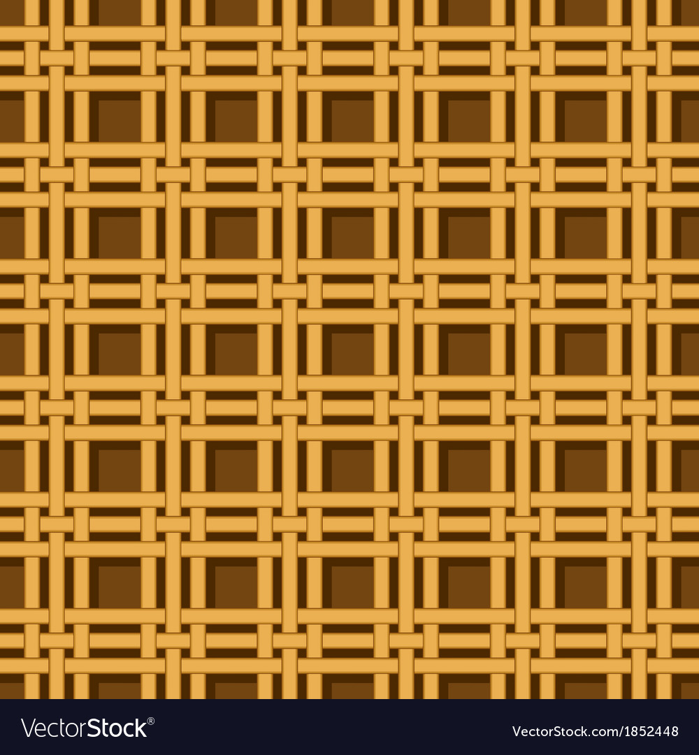 Wicker basket weaving pattern seamless texture vector | Price: 1 Credit (USD $1)