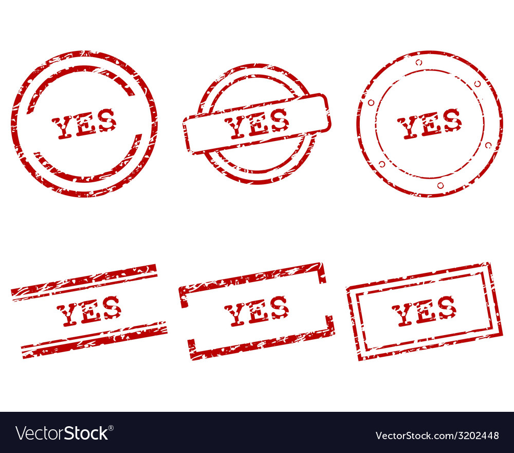 Yes stamps vector | Price: 1 Credit (USD $1)