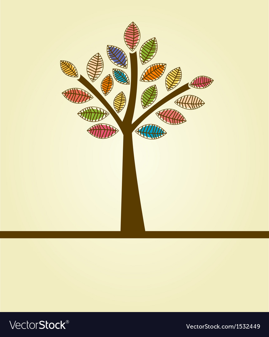 Abstract autumn tree vector | Price: 1 Credit (USD $1)