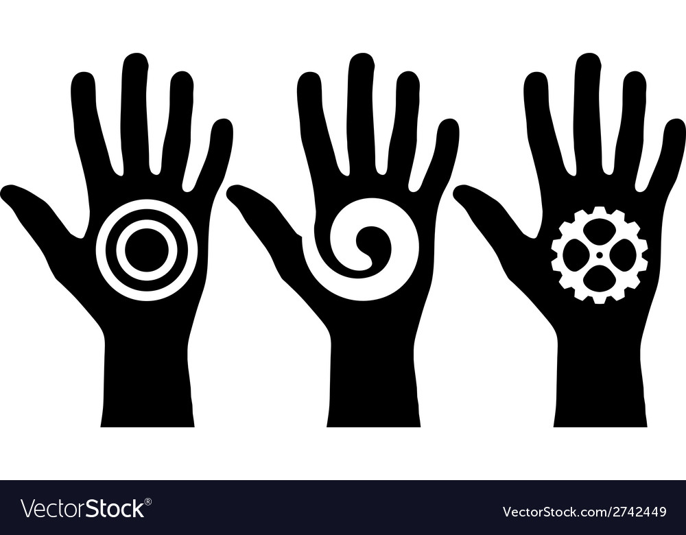 Black hands vector | Price: 1 Credit (USD $1)