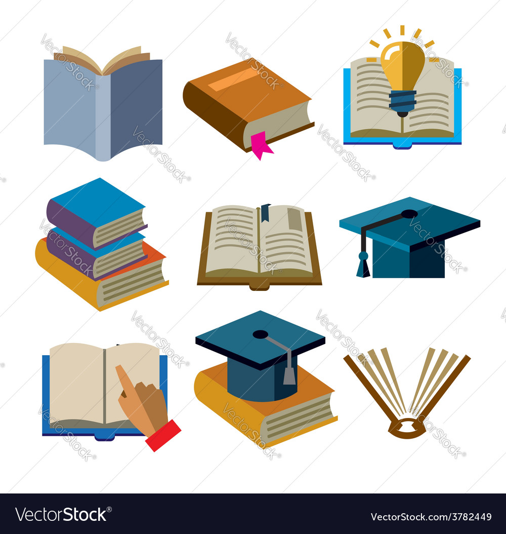 Book icons vector   Price: 1 Credit (USD $1)