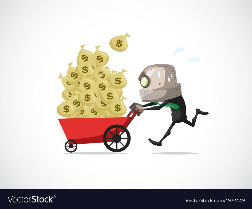Businessman run money vector | Price: 1 Credit (USD $1)
