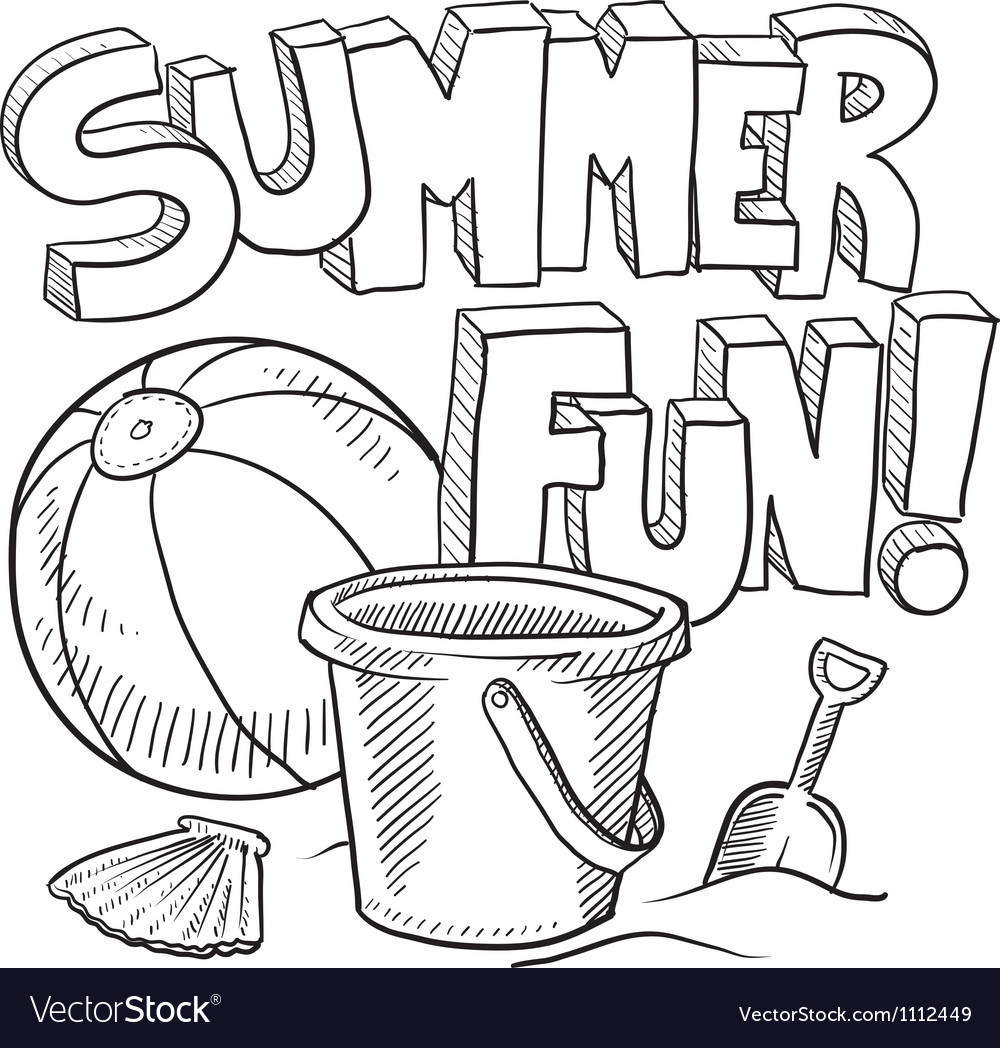 Doodle summer fun vector | Price: 1 Credit (USD $1)