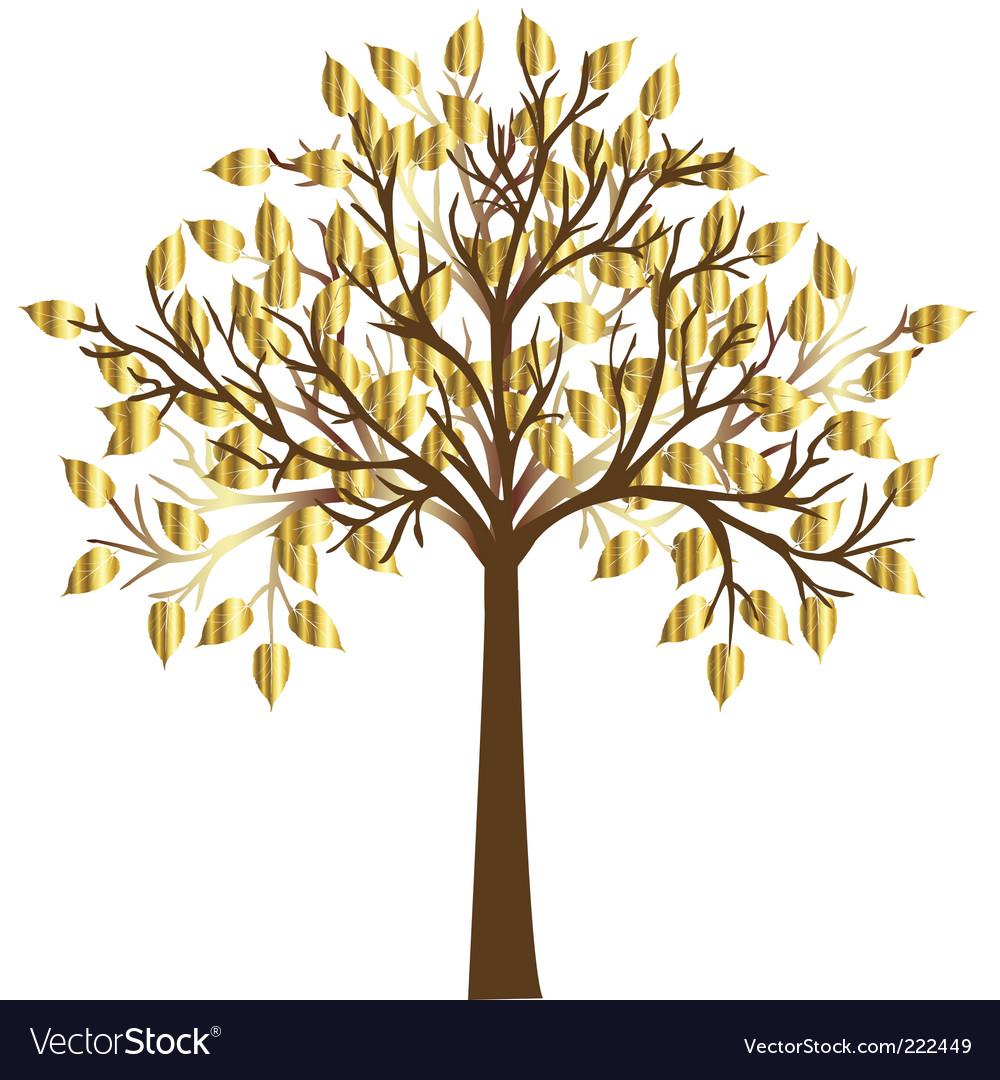 Golden tree vector | Price: 1 Credit (USD $1)
