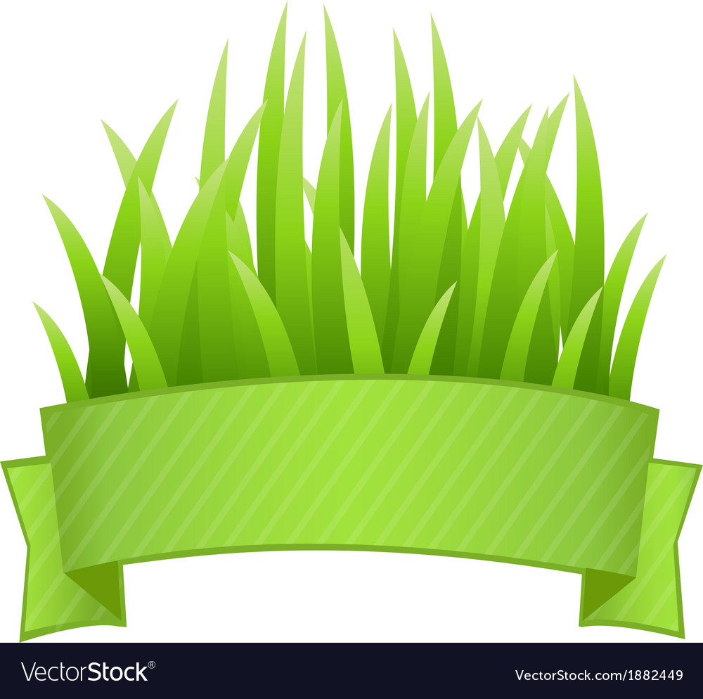 Grass banner vector | Price: 1 Credit (USD $1)