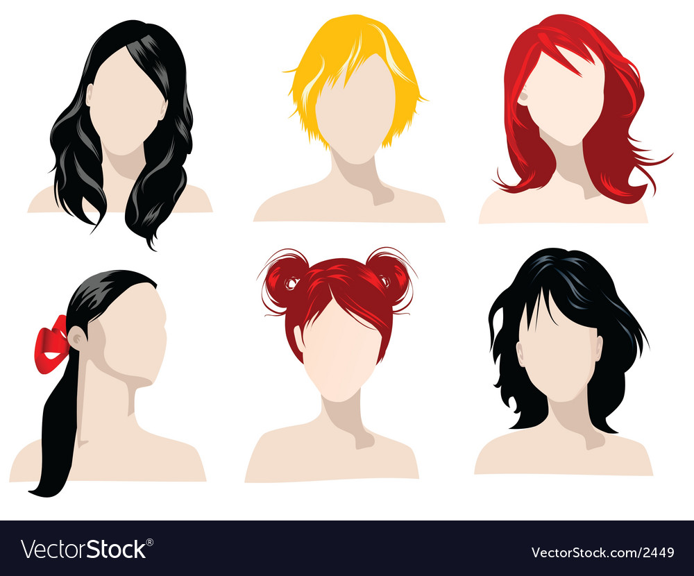 Hair styles vector | Price: 3 Credit (USD $3)