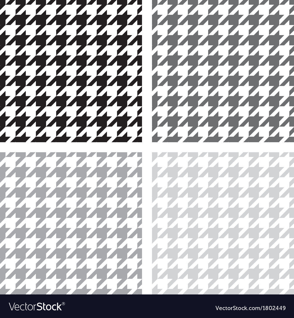 Houndstooth seamless grey black and white pattern vector | Price: 1 Credit (USD $1)