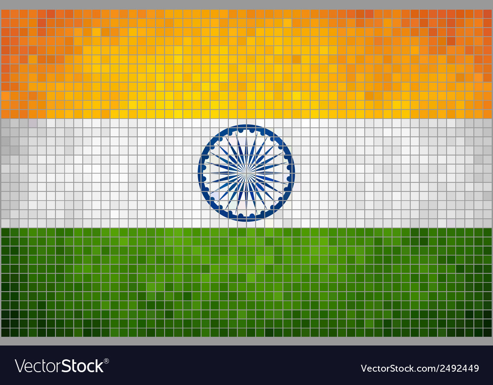Mosaic flag of india vector | Price: 1 Credit (USD $1)
