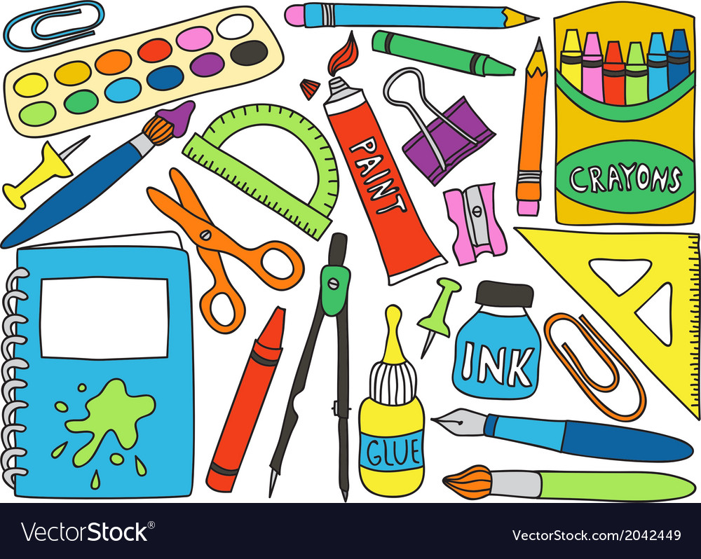 School or office supplies vector | Price: 1 Credit (USD $1)