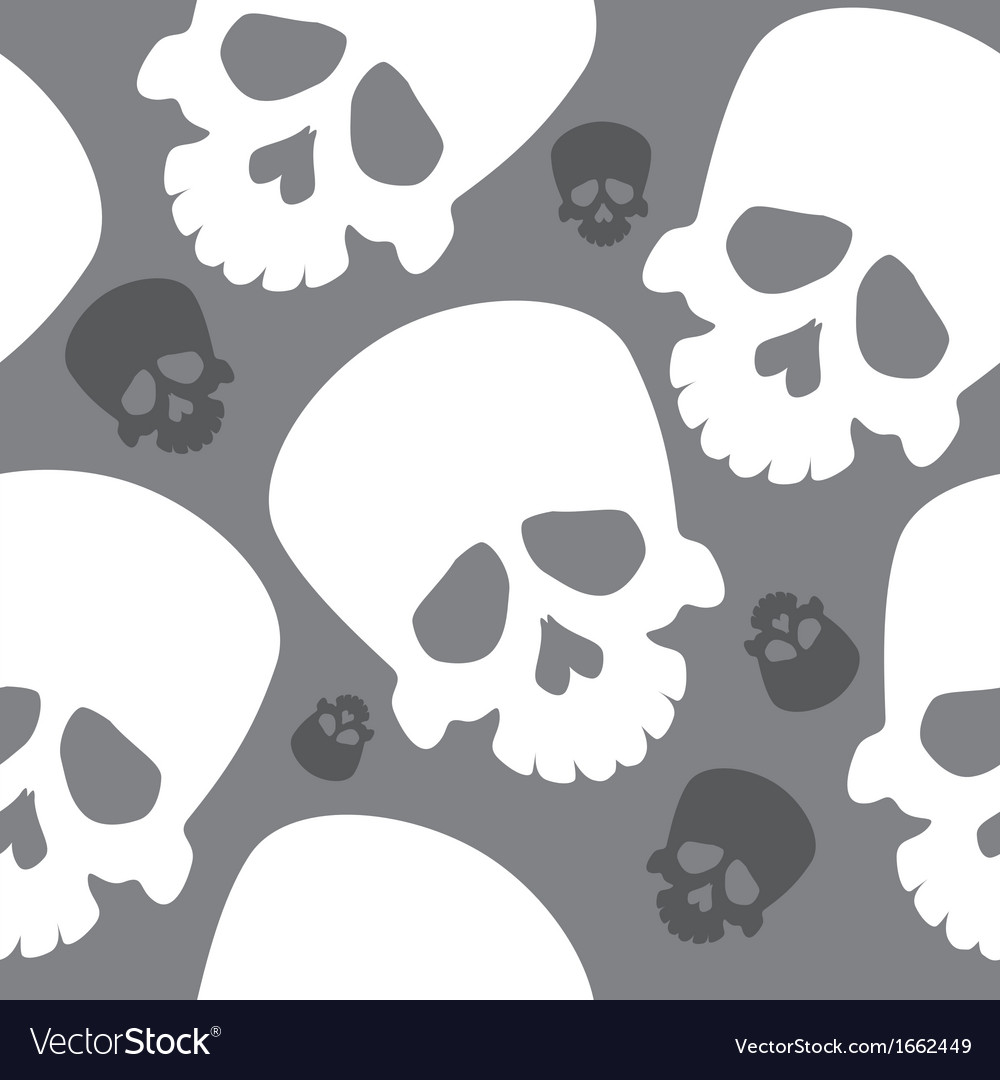 Seamless wallpaper with skulls vector | Price: 1 Credit (USD $1)