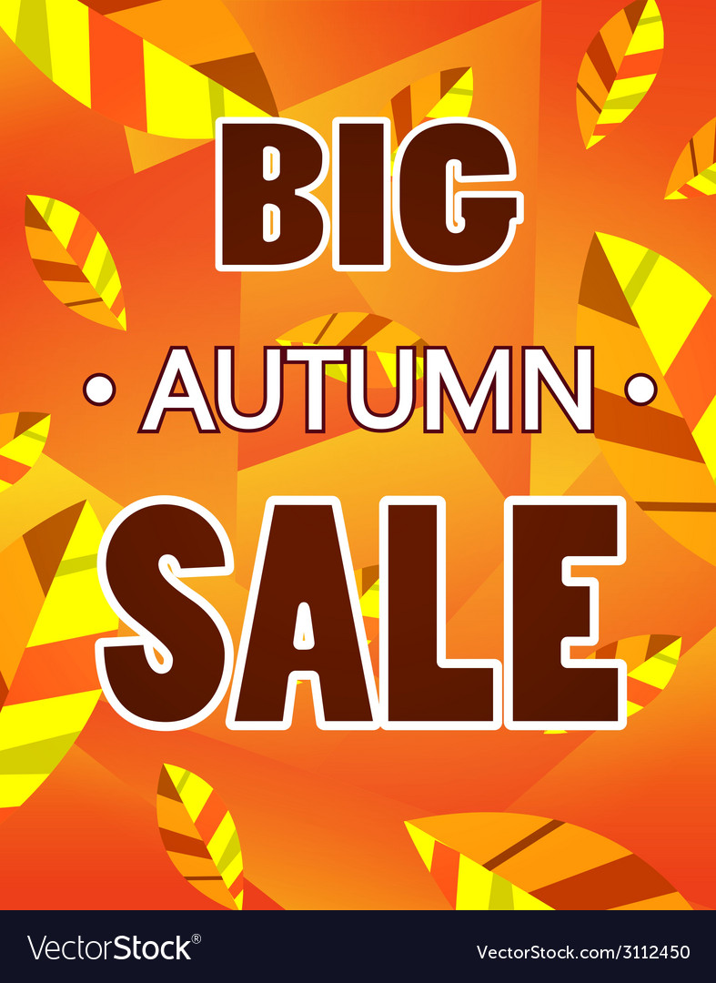 Advertisement about the autumn sale vector | Price: 1 Credit (USD $1)