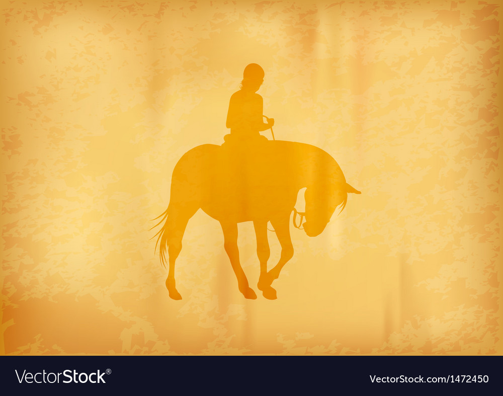 Background with horse riding vector | Price: 1 Credit (USD $1)