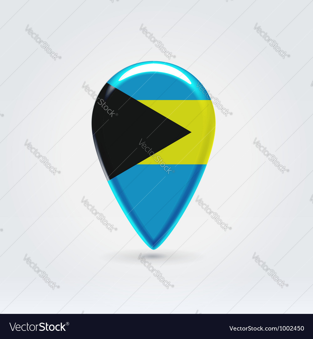 Bahamas icon point for map vector | Price: 1 Credit (USD $1)