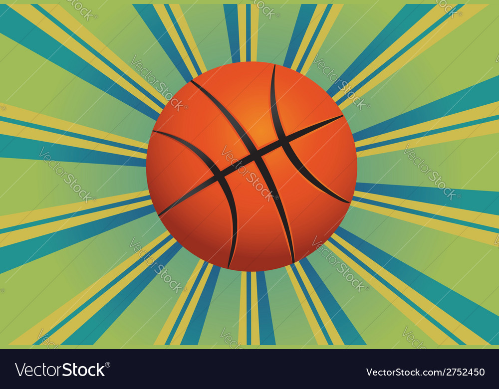 Basketball ball background vector | Price: 1 Credit (USD $1)