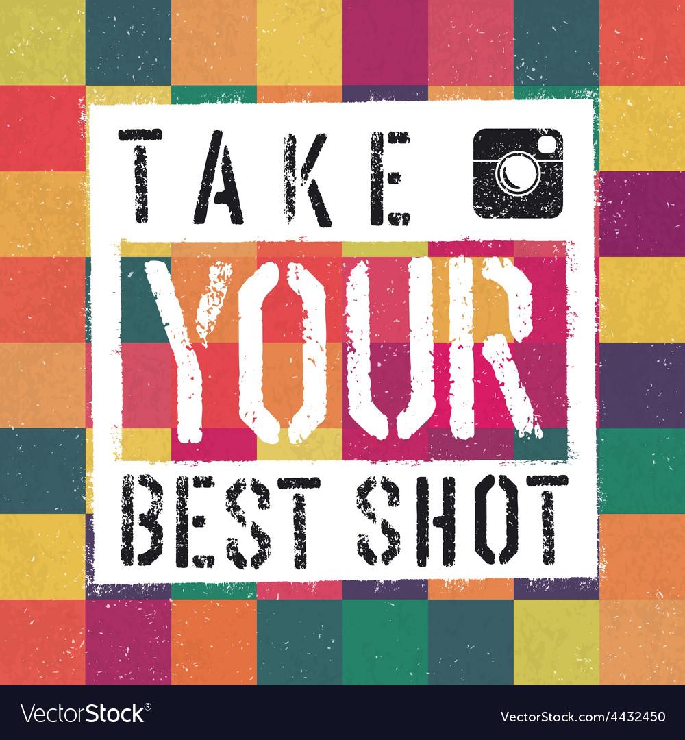 Best shot retro poter vector | Price: 1 Credit (USD $1)