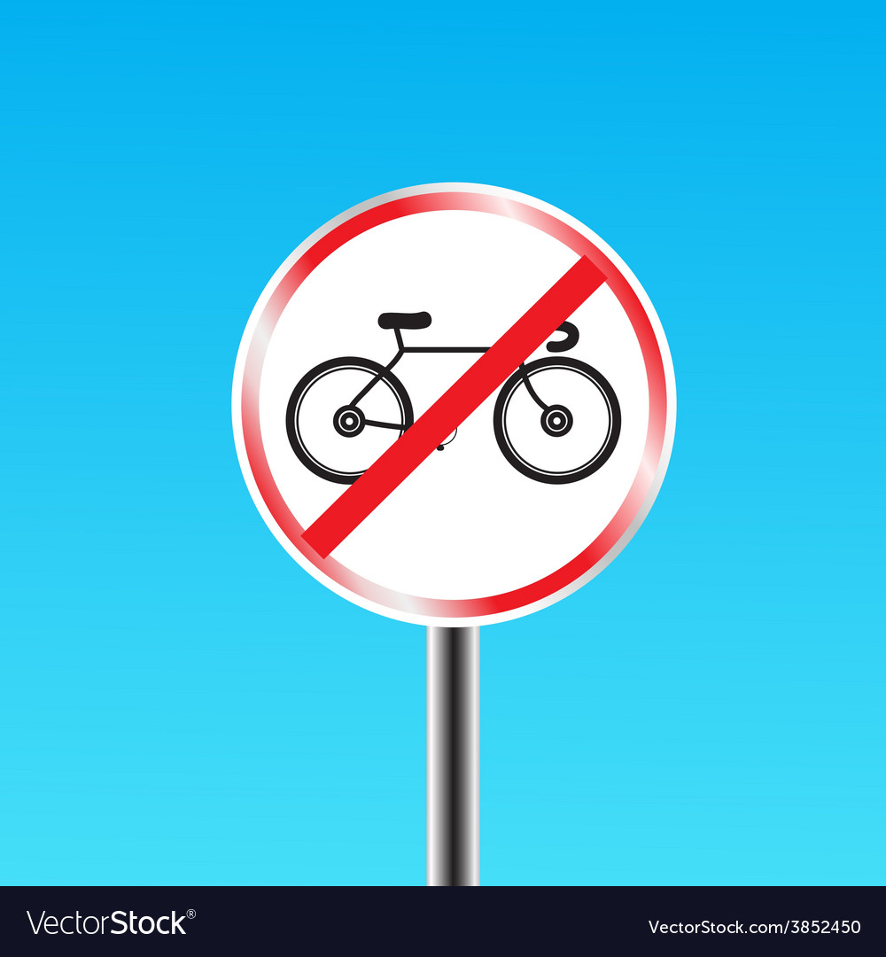 Bicycles prohibited sign vector | Price: 1 Credit (USD $1)
