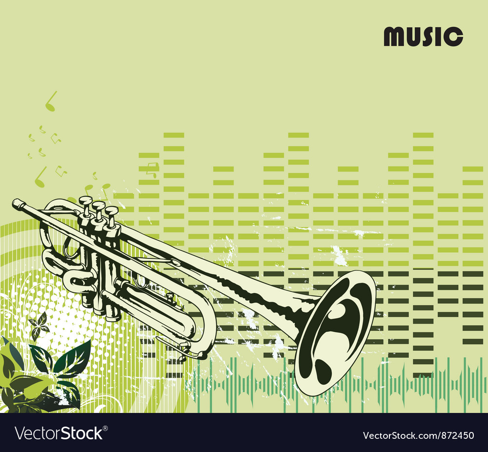Concert poster with trumpet vector | Price: 1 Credit (USD $1)