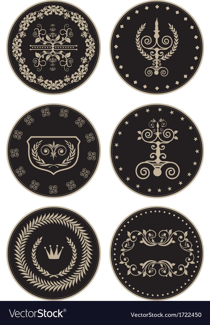 Luxury labels vector | Price: 1 Credit (USD $1)
