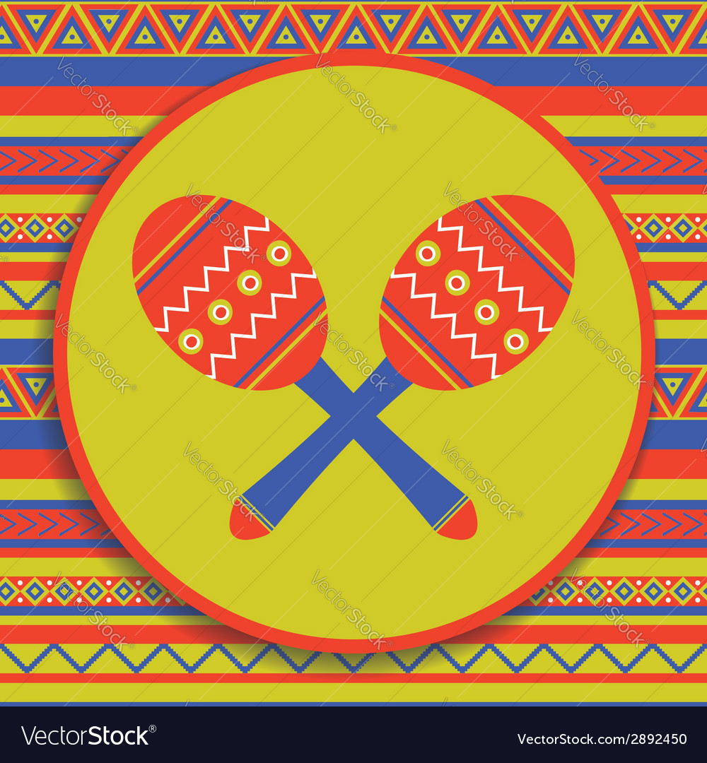 Maracas on patterned background vector | Price: 1 Credit (USD $1)
