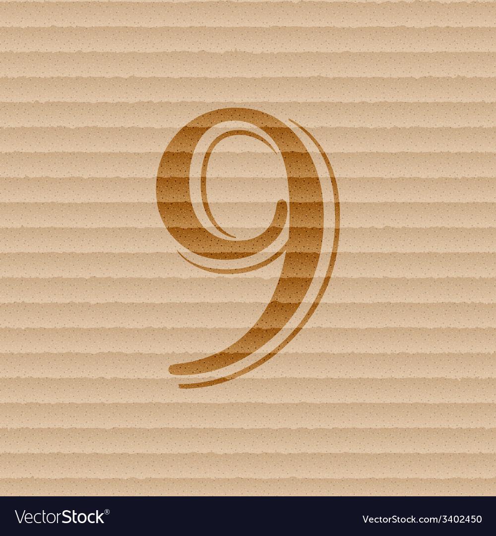 Number nine icon symbol flat modern web design vector | Price: 1 Credit (USD $1)