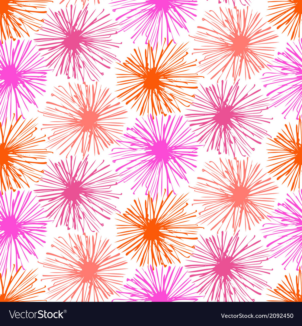 Pattern with small furry flowers or pompoms vector | Price: 1 Credit (USD $1)
