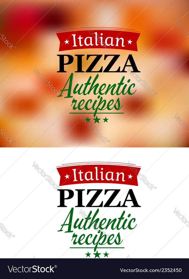 Pizza menu elements vector | Price: 1 Credit (USD $1)