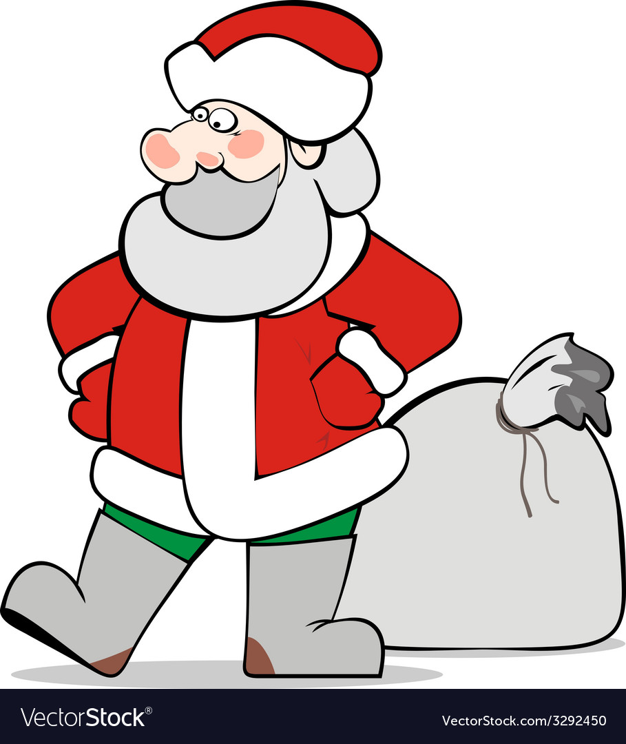 Santaclaus isolated vector | Price: 1 Credit (USD $1)