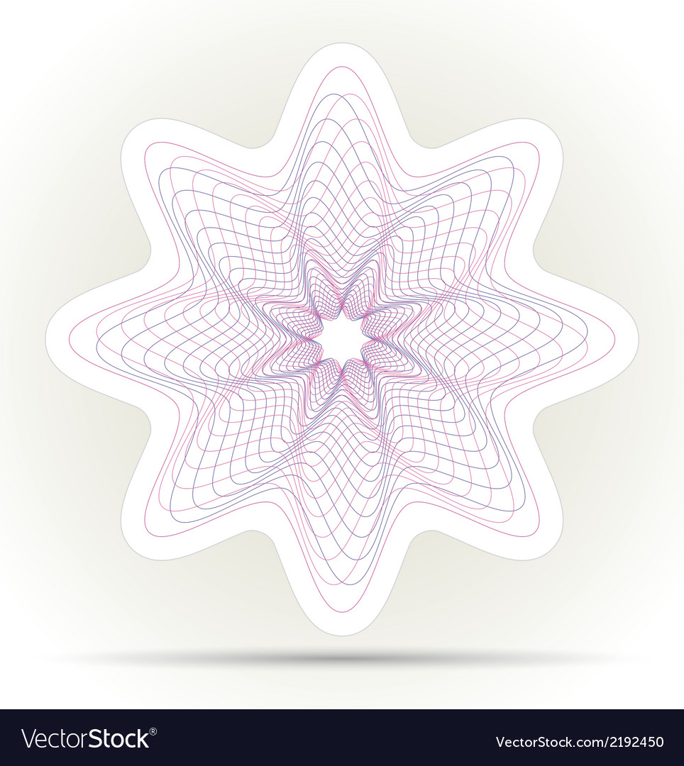 Spirograph ornament background vector | Price: 1 Credit (USD $1)