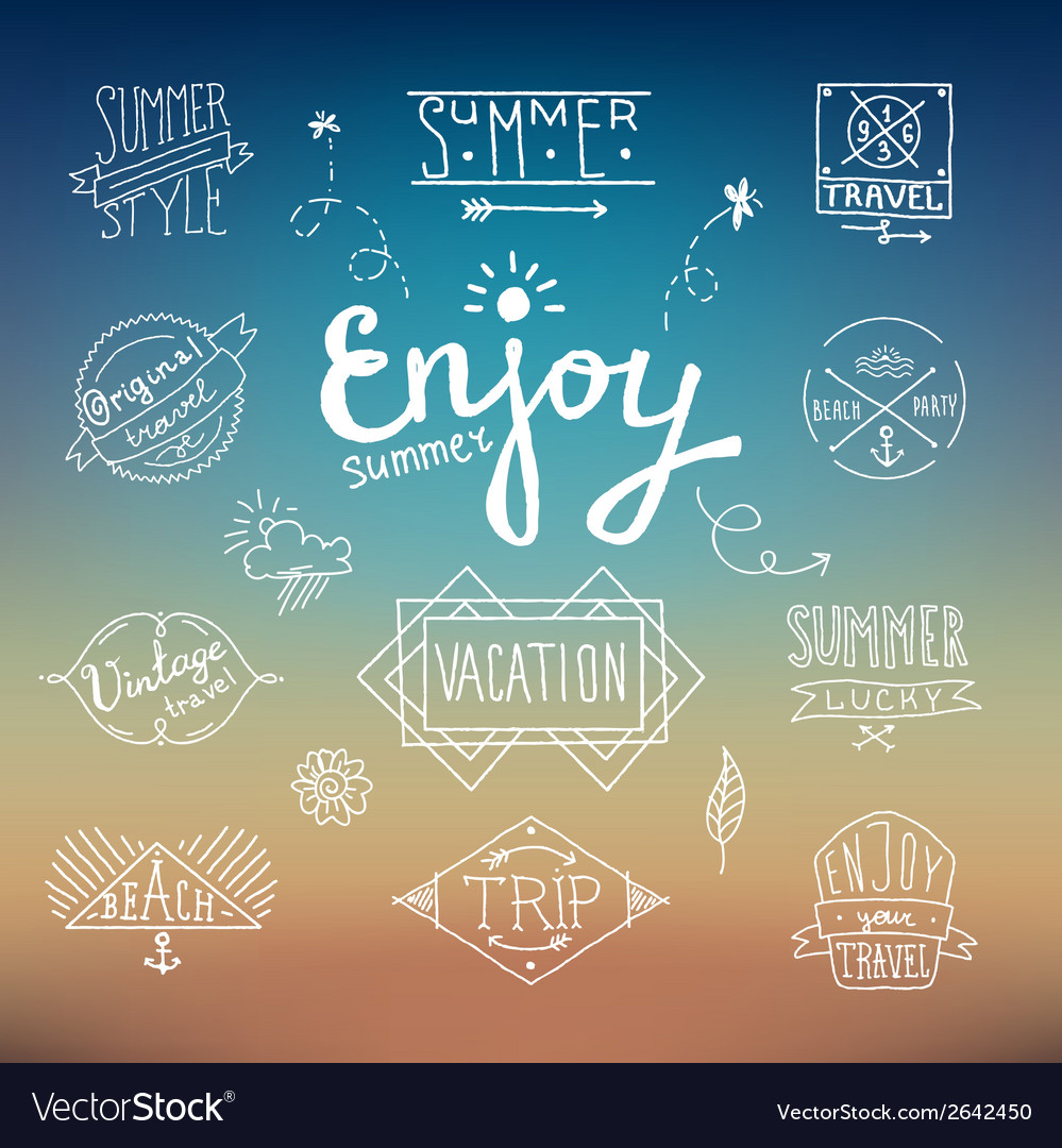 Summer vintage label vector | Price: 1 Credit (USD $1)