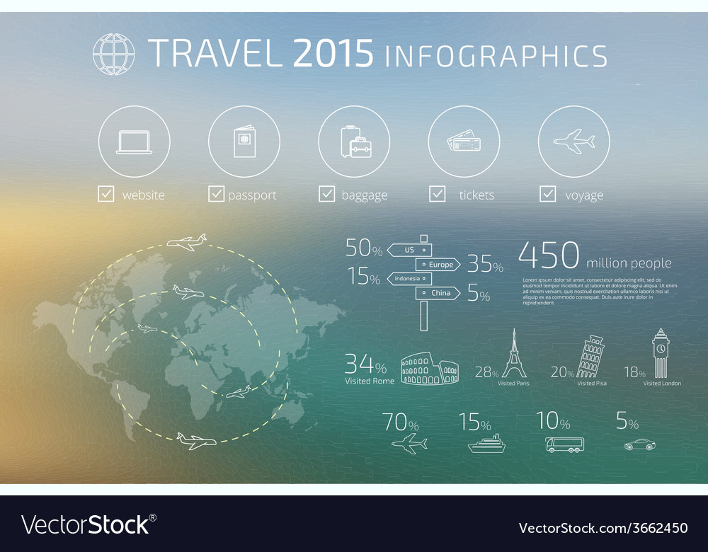 Travel infographic vector | Price: 1 Credit (USD $1)