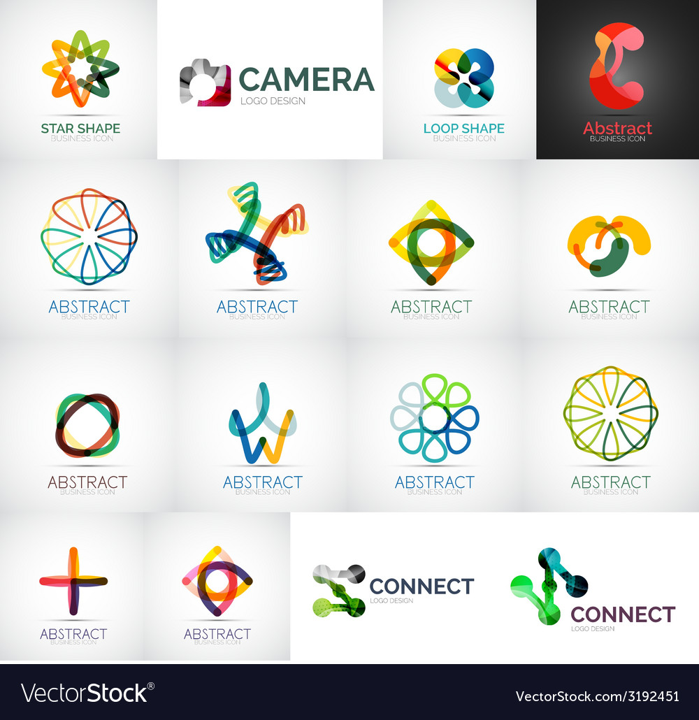 Abstract company logo collection vector | Price: 1 Credit (USD $1)
