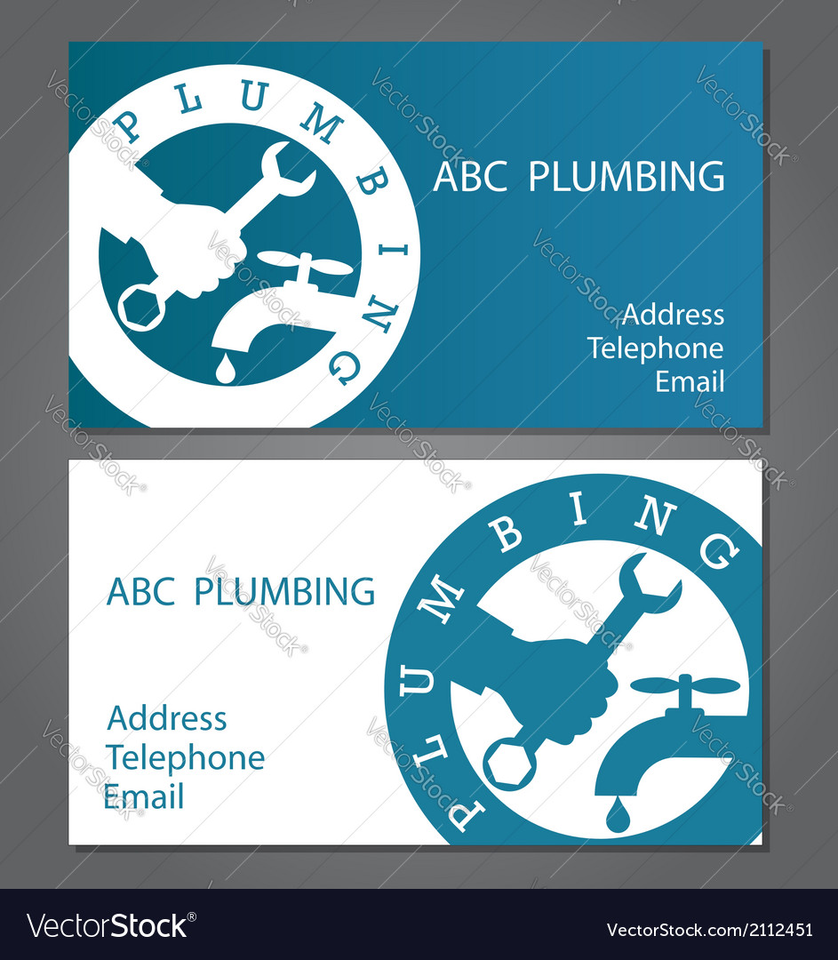 Business cards for plumbers vector | Price: 1 Credit (USD $1)