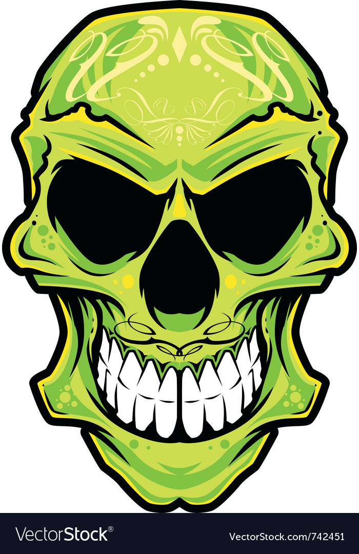 Mexico skull color vector | Price: 3 Credit (USD $3)
