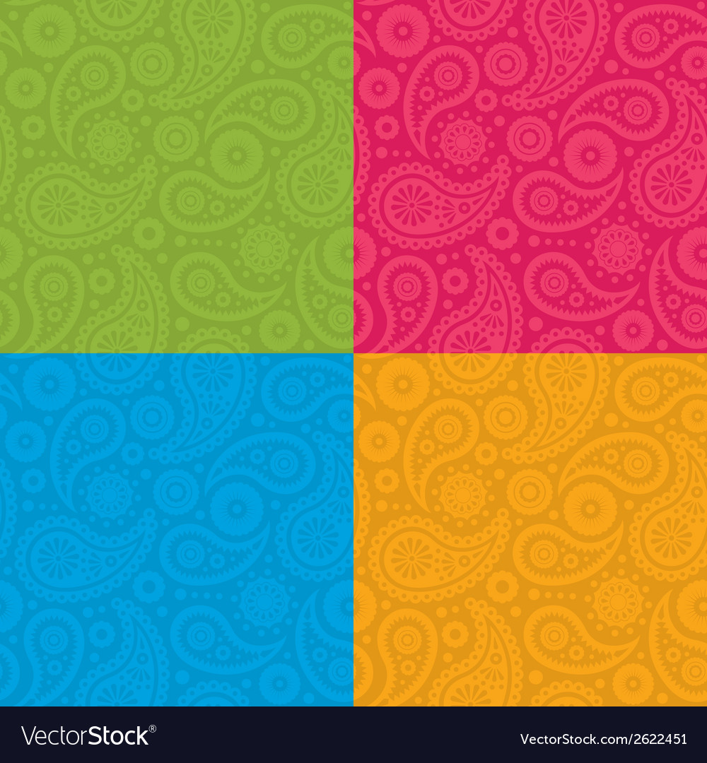 Seamless paisley pattern vector | Price: 1 Credit (USD $1)