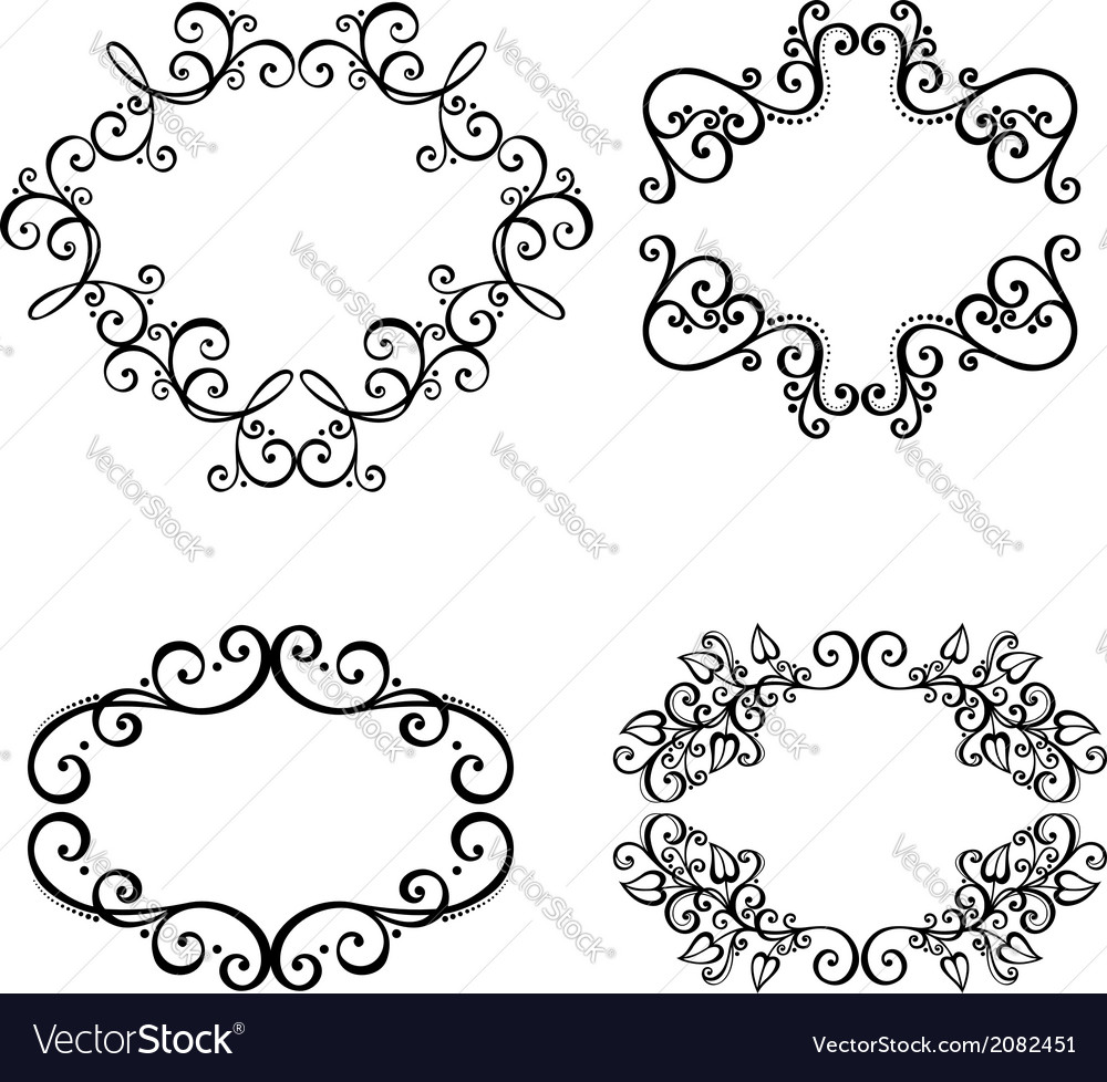 Set of ornamental frames for text vector | Price: 1 Credit (USD $1)