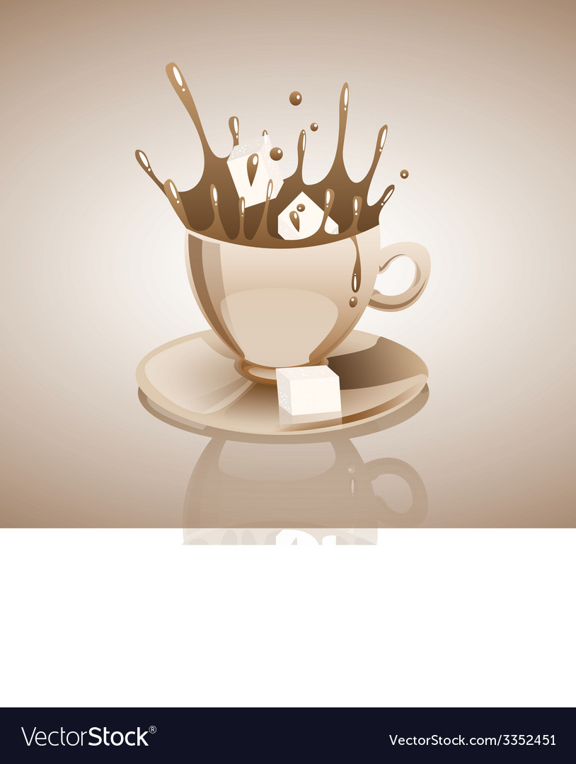 Splashing coffee drink vector | Price: 3 Credit (USD $3)