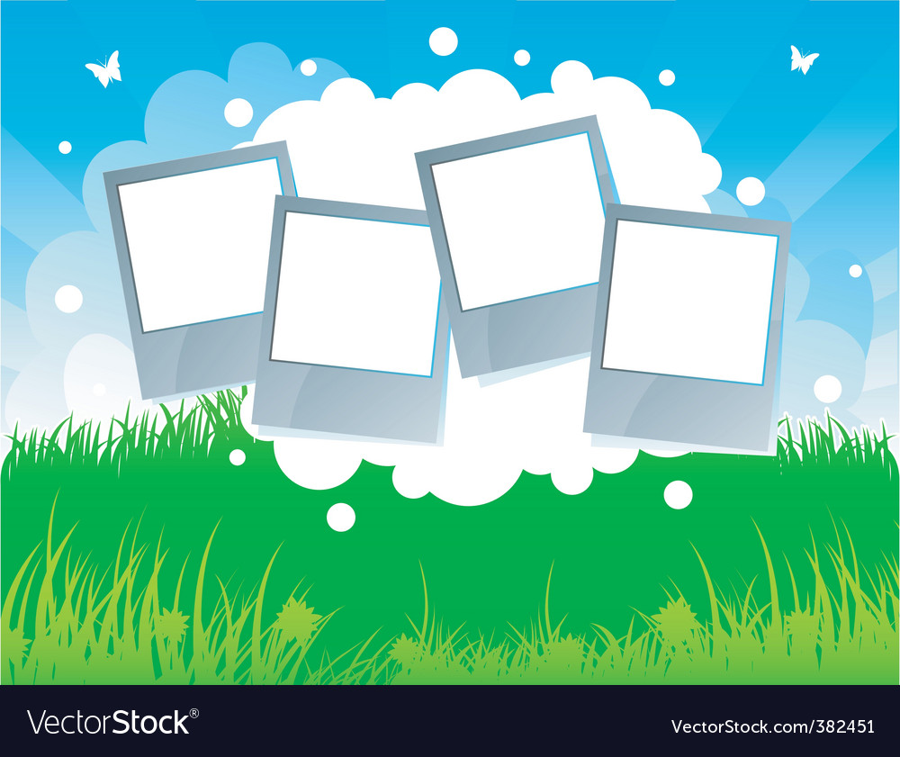 Summer background grass vector | Price: 1 Credit (USD $1)