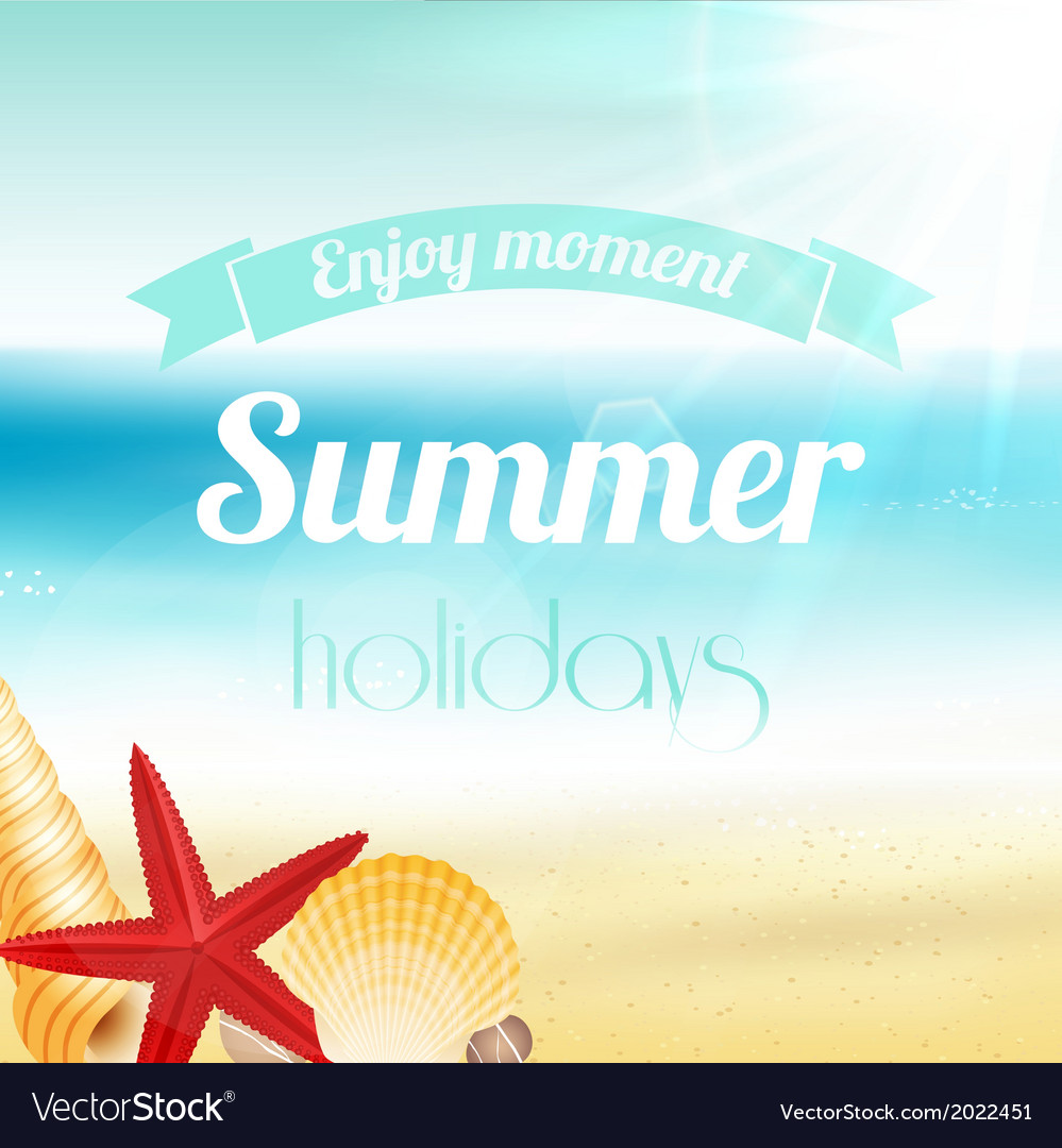 Summer holiday vacation poster vector | Price: 1 Credit (USD $1)