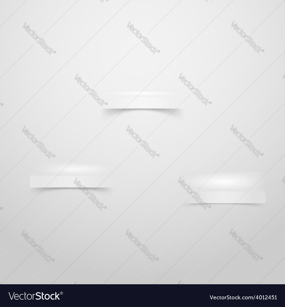 Wall with three niches stages for product placing vector | Price: 1 Credit (USD $1)