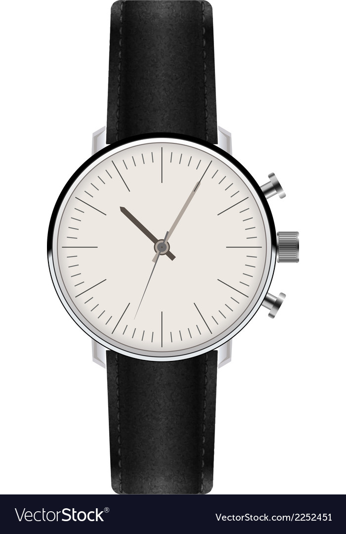 Watch with leather strap vector | Price: 1 Credit (USD $1)