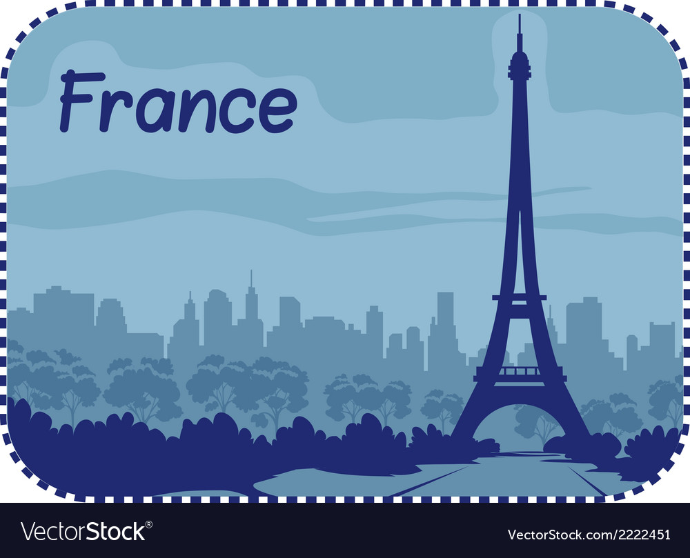 With eiffel tower in paris vector | Price: 1 Credit (USD $1)