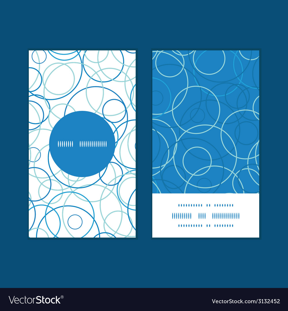 Abstract blue circles vertical round frame pattern vector | Price: 1 Credit (USD $1)