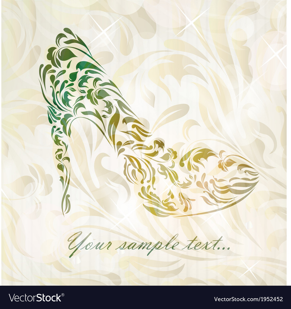 Beautiful fashion shoes background vector | Price: 1 Credit (USD $1)