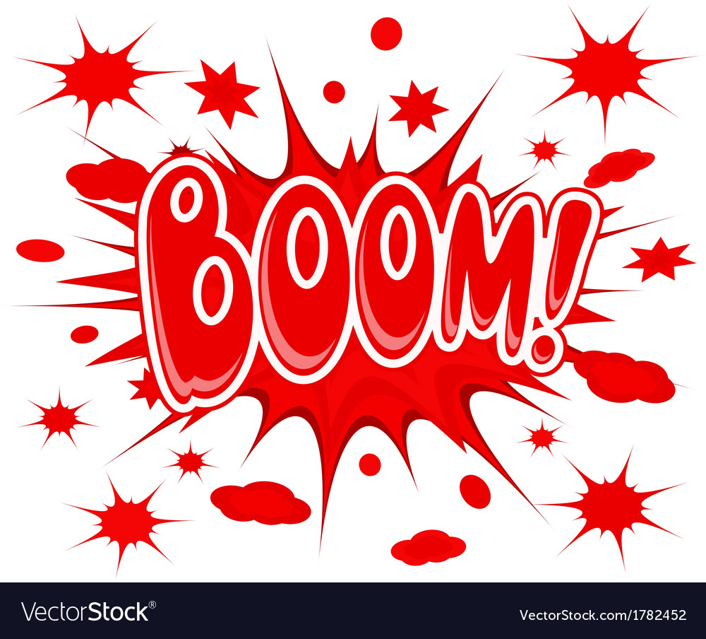 Boom explosion icon vector | Price: 1 Credit (USD $1)