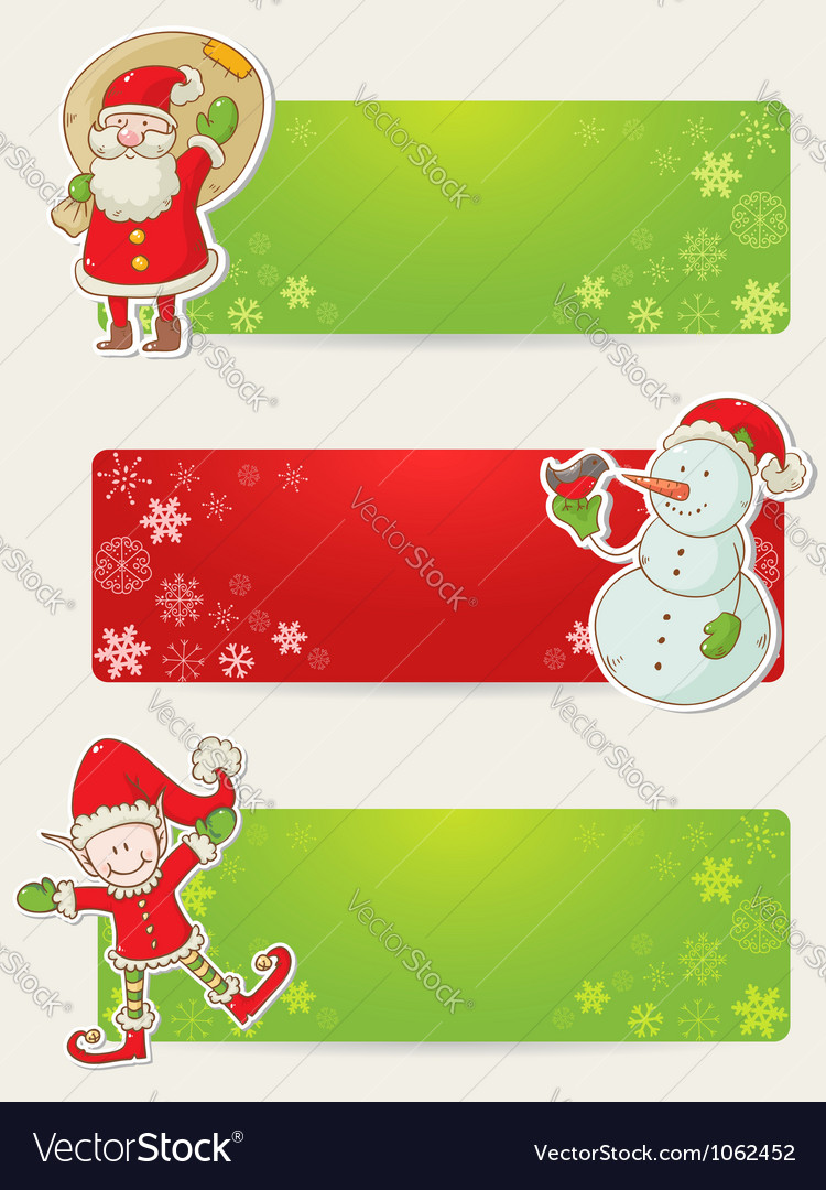 Christmas congratulation stickers vector | Price: 1 Credit (USD $1)