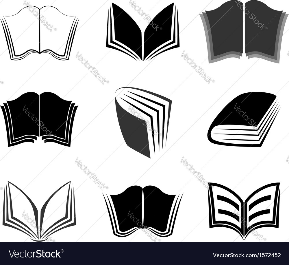 Graphical books icons vector | Price: 1 Credit (USD $1)
