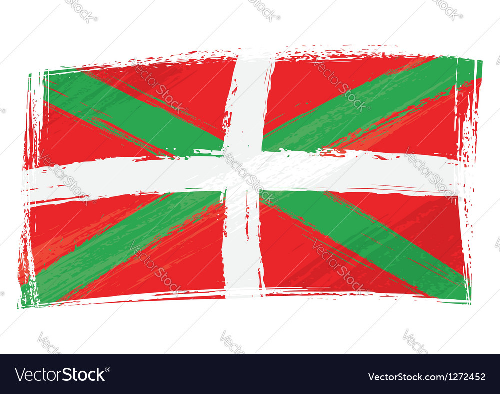 Grunge basque country flag vector | Price: 1 Credit (USD $1)