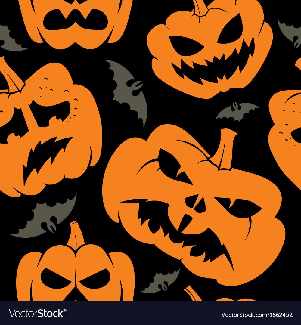 Halloween seamless wallpaper vector | Price: 1 Credit (USD $1)