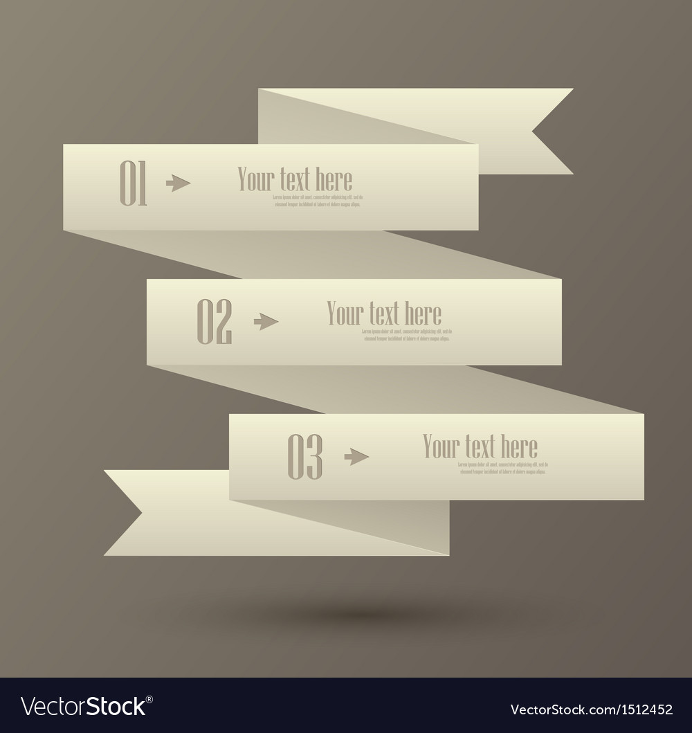 Set of numbered banner vector | Price: 1 Credit (USD $1)