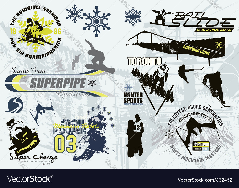 Winter sport vector | Price: 1 Credit (USD $1)